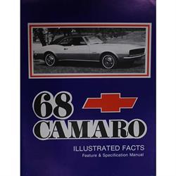 Jim Osborn MP0029 1968 Camaro Illustrated Facts Book