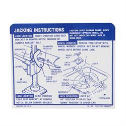 Jim Osborn DC790 Convertible Jacking Instructions, 1969 Camaro