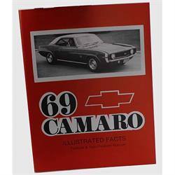 Jim Osborn MP0030 1969 Camaro Illustrated Facts Book