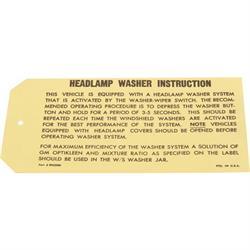 Jim Osborn DC0407 Headlight Instructions Decal for 1969 Nova