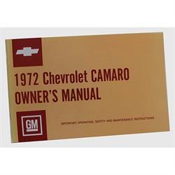 Jim Osborn 1972 Camaro Owners Manual