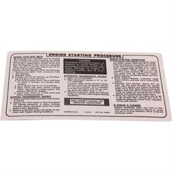 Jim Osborn DC0389 Sunvisor Sleeve Ignition Starting Instructions