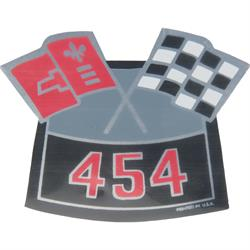 Jim Osborn DC0003 Crossed Flags 454 Air Cleaner Decal