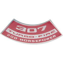 Jim Osborn DC0334 Air Cleaner Turbo Fire 307 200 HP Decal