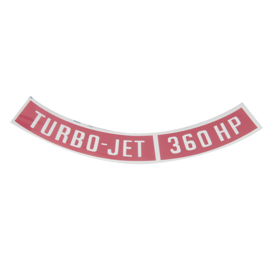 Jim Osborn DC0113 Turbo Jet 360HP Air Cleaner Decal