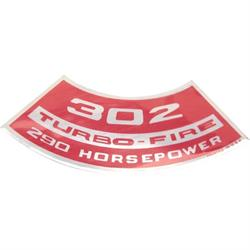 Jim Osborn DC0076 Air Cleaner Turbo Fire 302 290 HP Decal