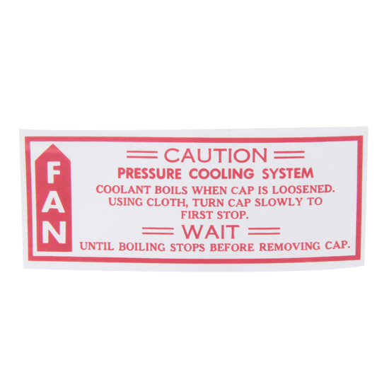 Jim Osborn DC0471 Caution Fan Decal, 1979-80 Camaro
