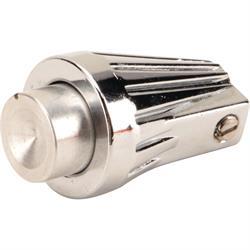 Keen Parts 110149 Chrome Windshield Wiper Knob w/Washer Button, Each