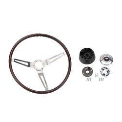 OER R6532 Walnut Steering Wheel Kit, 67-68 Nova/67-68 Camaro/Chevelle