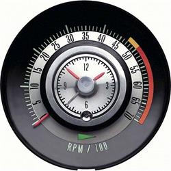 OER 6468714 Clock/Tachometer Gauge, 68 Camaro 327/SS350, 5000 Redline