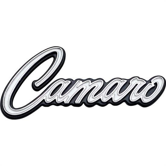 oer 3950003 1969 camaro dash panel emblem rh speedwaymotors com camaro logo sunshade camaro logo clothing
