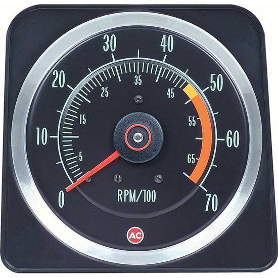 OER 6469381 1969 Camaro Tachometer, SS-350, 5000 Red Line, 5x7