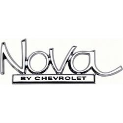 OER 8728940 Trunk Lid Emblem for 1968-72 Nova