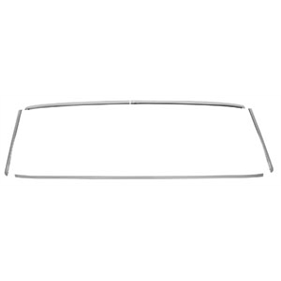 RESTOPARTS C990163 Rear Window Molding Trim, 68-72 Chevelle