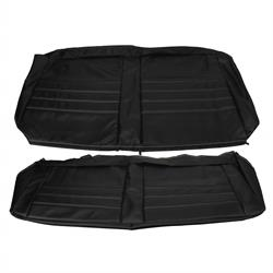 PUI  65AS10C Rear Seat Upholstery, 1965 Chevelle Coupe, Black