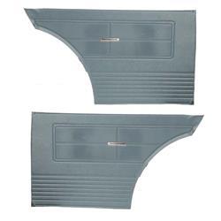 PUI 63XD56C Rear Door Panels, 1963 Chevy II, Blue