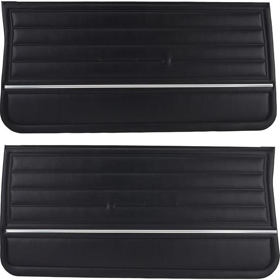 PUI  PD260 Pre-Assembled Front Door Panel, Black, 1965 Chevelle