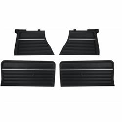 PUI PD260C Rear Side Panel, Black, 1965 Chevelle Hardtop