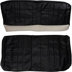 PUI  66AS10C Rear Seat Upholstery, 1966 Chevelle  Coupe, Black