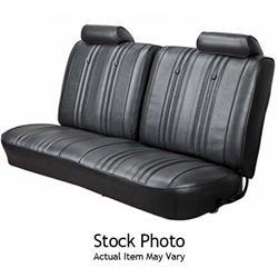 1966 Nova Seat Covers Front Bucket Chevrolet Upholstery Skins Black Vinyl