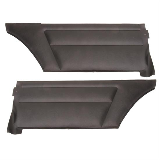 Black 1968 Chevrolet Camaro Deluxe PAD Coupe Rear Side Panels PUI
