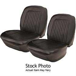 PUI 67AS10U Bucket Seat Upholstery, 67 Chevelle, Blk, Pair
