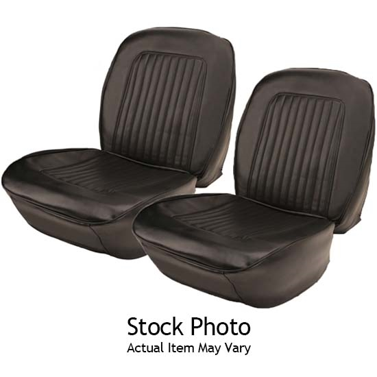 Excellent Pui 67Fs10U 1967 1968 Camaro Black Bucket Seat Upholstery Onthecornerstone Fun Painted Chair Ideas Images Onthecornerstoneorg