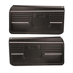 PUI PD210 1968 Camaro Standard Front Door Panels, Black, Pair