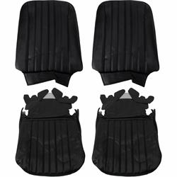 PUI  68AS10U Bucket Seat Upholstery, 1968 Chevelle/El Camino, Black
