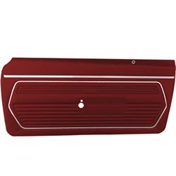 PUI PD221 Front Door Panels for 1969 Camaro, Red, Pair