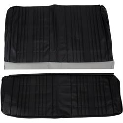 PUI  69AS10C Rear Seat Upholstery, 1969 Chevelle Coupe, Black