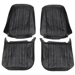 PUI  69AS10U Bucket Seat Upholstery, 1969 Chevelle/El Camino, Black