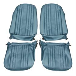 PUI 69AS12U 69 Chevelle/El Camino Bucket Seat Uph, Pair, Blue