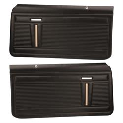 PUI PD340 Interior Door Panels, 1969-70 Nova 2-Door, Pair