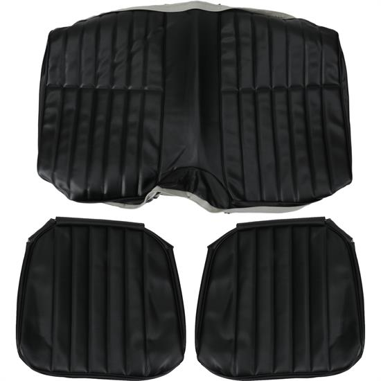 PUI 71FS10C 1971-1973 Camaro Black Rear Seat Upholstery