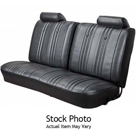 Pui 73xs10c 1973 1974 Nova 2 Door Rear Seat Upholstery Black