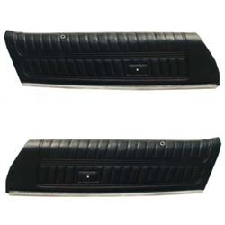 PUI 77FD70-P Front Door Panels, 1977 Camaro, Black, Pair