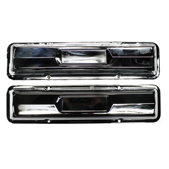Chrome Small Block Chevy Valve Covers, Pair
