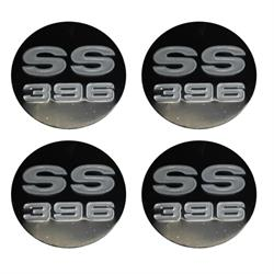 SS 396 Wheel Center Cap Inserts, Set of 4