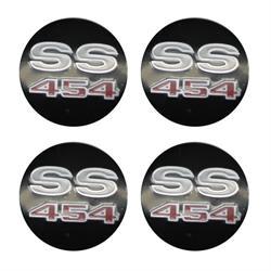 SS 454 Wheel Center Cap Inserts, Set of 4