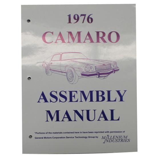 1976 Camaro Factory Assembly Manual