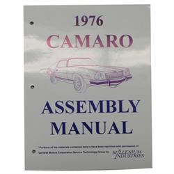 1976 Camaro Assembly Manual