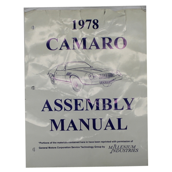 1978 Camaro Assembly Manual