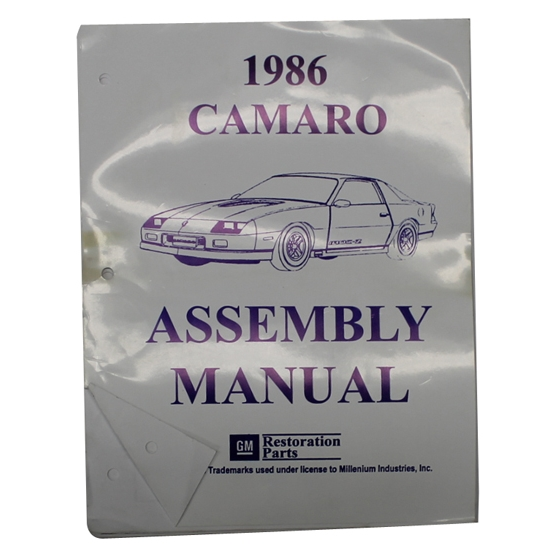 1986 Camaro Assembly Manual