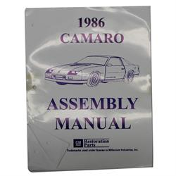1986 Camaro Assembly Manual