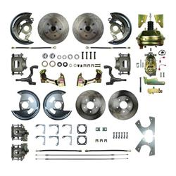 The Right Stuff AFXDC41C 4-Wheel Power Disc Brake Kit, 64-72 GM A-Body