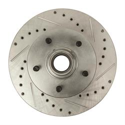 The Right Stuff BR02ZDC Disc Brake Rotors, Drilled, Camaro/Nova, Pair