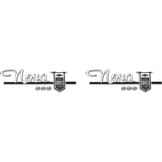 Trim Parts 3022 Fender/Quarter Panel Emblem, 1963-64 Nova