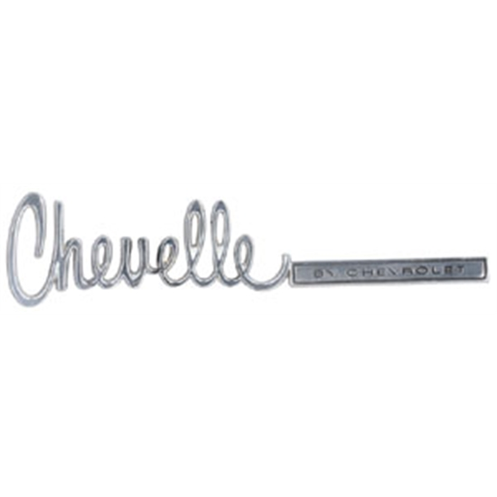 Trim Parts 4750 Reproduction Trunk Lid Emblem for 1971-72 Chevelle