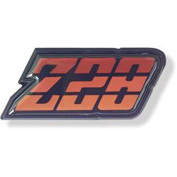Trim Parts 6955 Reproduction Red Z28 Fuel Door Emblem, 1980-81 Camaro